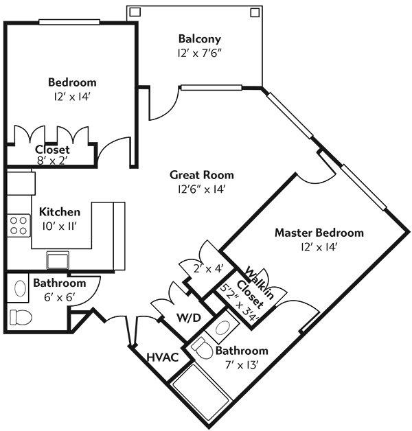 Rivertown Ridge Erie Floor Plan.
