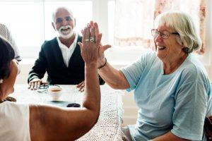 Seniors Enjoying Each Other's Company